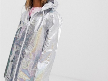 Selling with online payment: Holographic Silver Glitter Raincoat