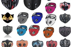 Liquidation/Wholesale Lot: 1000x MIX Face Mask With Active Carbon Filter Breathing Valves