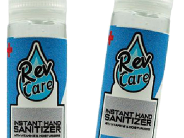 Products for Sale: Rev Care 2 oz. Gel Sanitizer - Made in USA - 100 ct. box