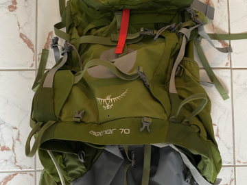 Renting out (by week): Osprey Aether rinkka 70l