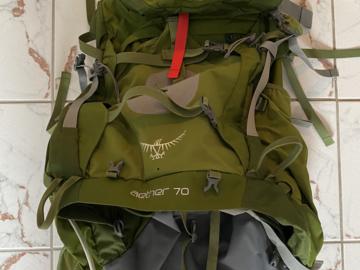 Vuokrataan (päivä): Osprey Aether rinkka 70l
