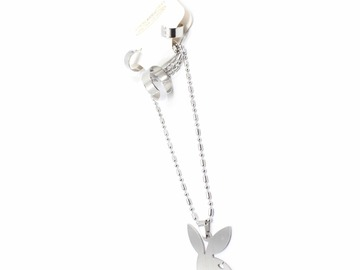 Liquidation/Wholesale Lot: Dozen Playboy Bunny Stainless Steel Necklace Earrings Ring Sets