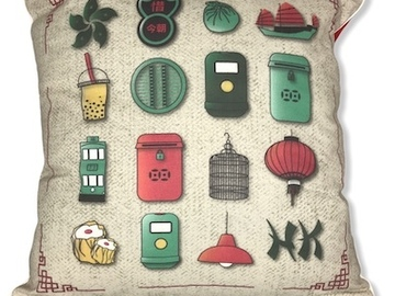 : Quintessential Hong Kong cushion cover