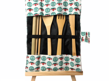 : HK exclusive – 6PC bamboo cutlery set – 'Tseung Kwan O' junks