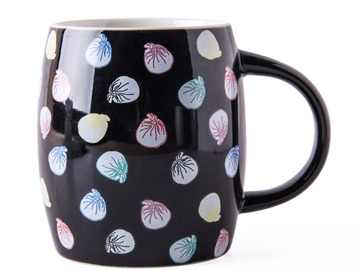 : ORIGINAL TUNG PO PRINT 'DUMPLINGS' – Ceramic Mug BLACK