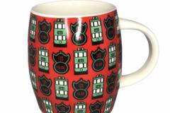 : 'North Point' Trams & Pawn Sign Ceramic Mug