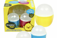 Liquidation/Wholesale Lot: Set Of 3 Crackin' Eggs Microwave Egg Cookers Poach Scramble BPA