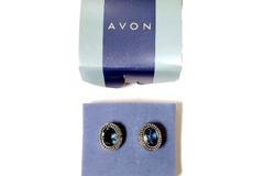 Liquidation/Wholesale Lot: Avon Decorative Oval Sapphire Earrings (Clip On Earrings)