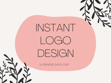 Offering online services: Instant Logo Design - 1 Premade Shop Logo