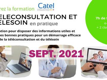 Mise en relation sans paiement en ligne: SEPT 2021 - Formation téléconsultation et télésoin en pratique