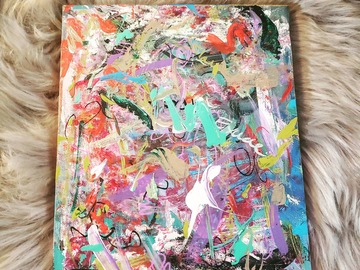 Sell Artworks: Free Thoughts Teal