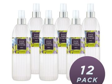 Liquidation/Wholesale Lot: Eyup Sabri Tuncer Lavender Cologne 150 ML Spray Bottle, Pack 12