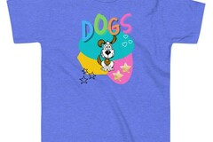 Selling: Kids Colorful Dogs T-Shirt for the Kid Who Loves Dogs