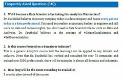 Book Training Class: Data Analytics for Business Results