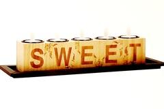 "Liquidation/Wholesale Lot: Home Decor ""Sweet"" Wood Block 5 LED Flameless Candle –"