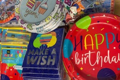 Liquidation/Wholesale Lot: Birthday Party and General Party Supplies with Manifest