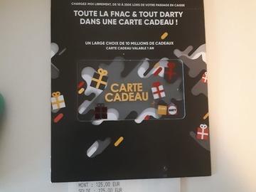 Vente: Cartes cadeaux FNAC/DARTY (500€)