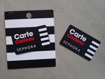Vente: Carte cadeau SEPHORA (100€)