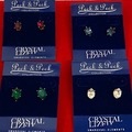 Liquidation/Wholesale Lot: 50 pairs Swarovski Crystal Earrings-- $1.25 pair!