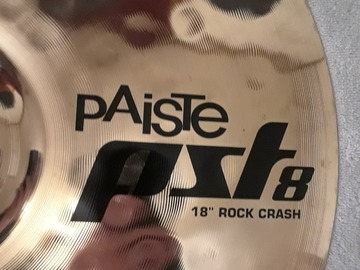 "Selling with online payment: Paiste PST8 Reflector (?) 18"" ROCK CRASH Cymbal"