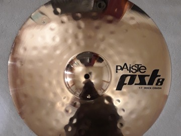 "Selling with online payment: Paiste PST8 Reflector (?) 17"" ROCK CRASH Cymbal"