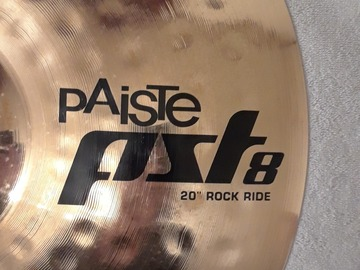 "Selling with online payment: Paiste PST8 Reflector (?) 20"" ROCK RIDE Cymbal"
