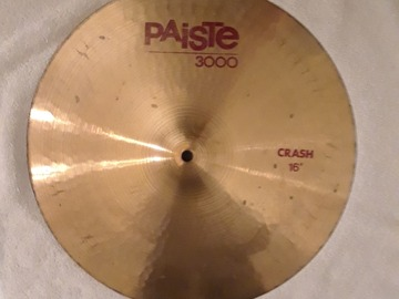 "Selling with online payment: Paiste 3000 16"" Crash Cymbal - 1986"
