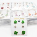 Liquidation/Wholesale Lot: Dozen New Trio Earring Sets in Assorted Colors