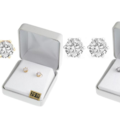 Liquidation/Wholesale Lot: 100 Pair Cubic Zirconia Earrings in Beautiful Gift Box -2 Carats