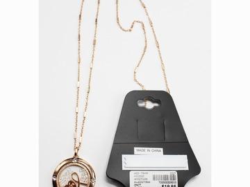 Liquidation/Wholesale Lot: Dozen Lane Bryant Rose Gold Cancer Awareness Necklaces $240 Value