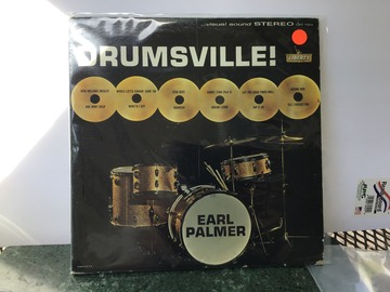 """Selling with online payment: Earl Palmer """"DRUMSVILLE"""" LP Record"""