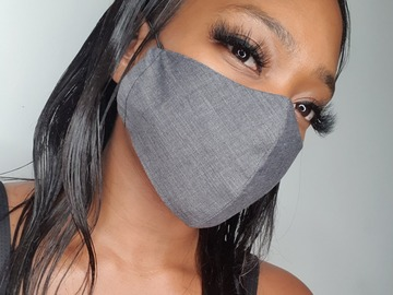 For Sale: Handmade Grey Cotton Face Mask
