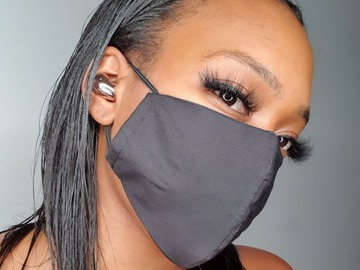 For Sale: Handmade Black Cotton Face Mask