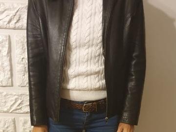 Vente: Vends veste en cuir noir Vintage