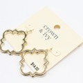 Liquidation/Wholesale Lot: Dozen Crown & Ivy Gold Ornate Drop Earrings $168 Value