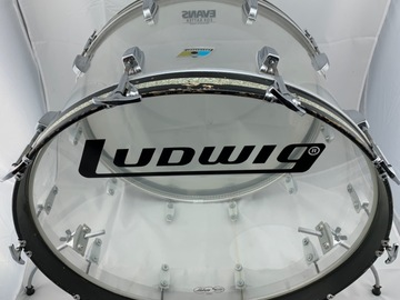 Selling with online payment: Vintage 1970's Ludwig Clear Vistalite 14x24 Virgin Bass Drum