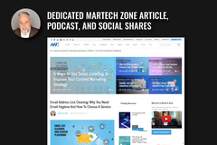 Make a post: Martech Zone Article, Podcast, and Social Shares