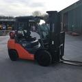 Monthly Equipment Rental: Toyota Tonero 3t LPG Forklift