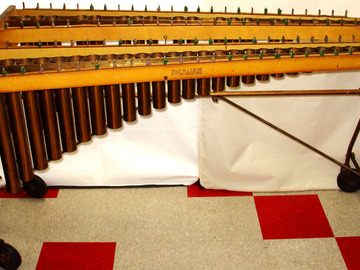 Selling with online payment: DEAGAN # 352-B marimba stand resonators and frames in Royal Buff