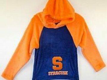 Selling A Singular Item: New Syracuse Colorblock Fuzzy Hoodie