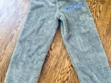 Selling A Singular Item: New Fuzzy Lounge Pant with Penn State Patch on leg