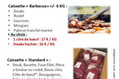 Vente avec paiement en direct: Colis de viande bovine charolaise Bleu Blanc Coeur