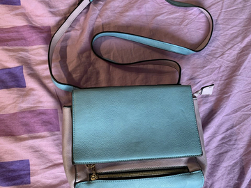 Selling with online payment: Light blue & lilac cross body bag