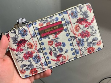 Selling with online payment: River Island Floral Wallet