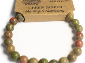 Selling: Power Bracelet - Green Jasper - HEALING & NURTURING