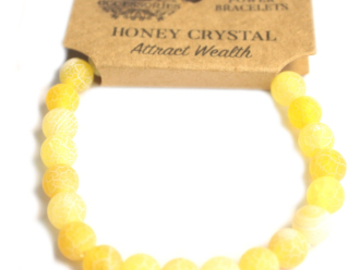 Selling: Power Bracelet - Honey Crystal - ATTRACT WEALTH