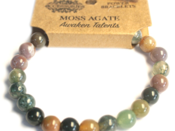 Selling: Power Bracelet - Moss Agate - AWAKEN TALENTS