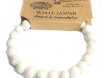 Selling: Power Bracelet - White Jasper - PEACE & FRIENDSHIP