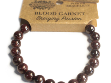 Selling: Power Bracelet - Blood Garnet - BRINGING PASSION