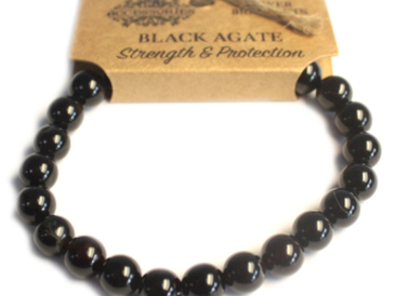 Selling: Power Bracelet - Black Agate - STRENGTH & PROTECTION